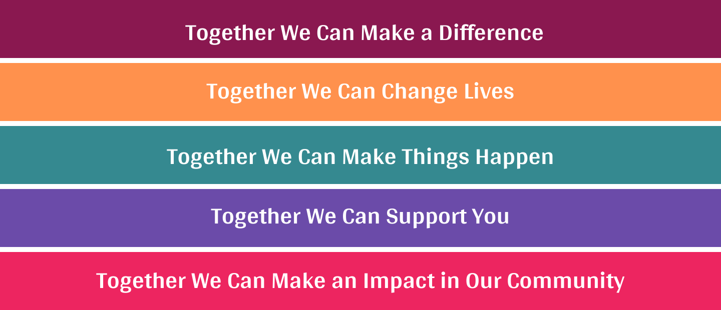 Together we can website header slogans